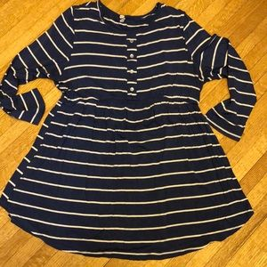 Blue Striped Maternity Top